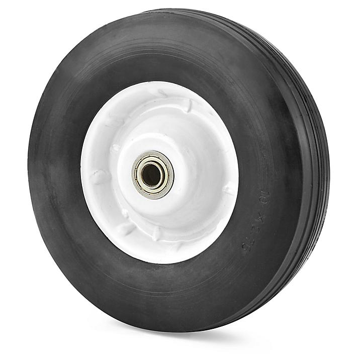 """Uline Convertible Steel Hand Truck Solid Rubber Wheel - 10"""" H-100WH"""