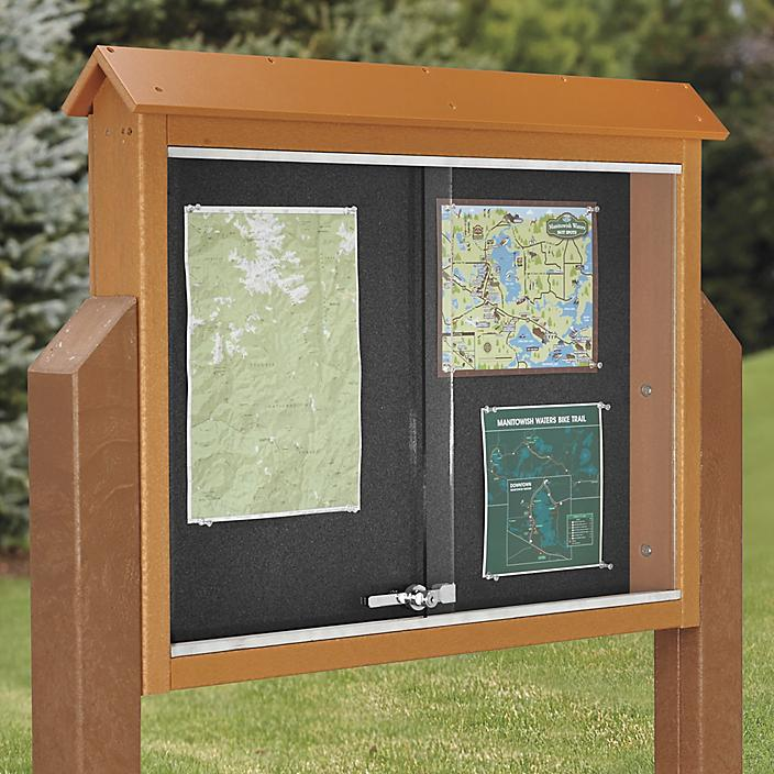 Message Center Sign with Posts
