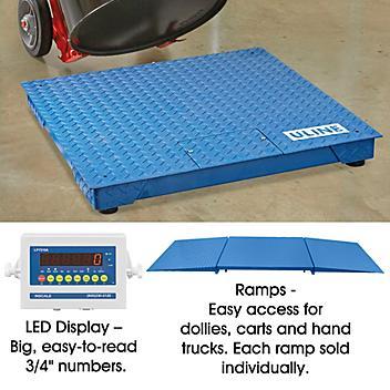 Low Profile Floor Scale - 3 x 3', 5,000 lbs x 1 lb H-3001