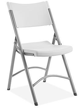 Economy Plastic Folding Chair - White H-3015W