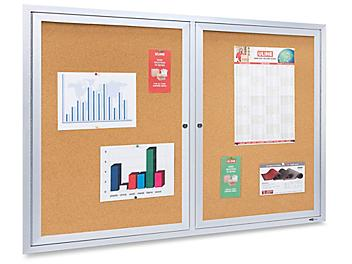 Enclosed Cork Board with Aluminum Frame - 4 x 3' H-3041