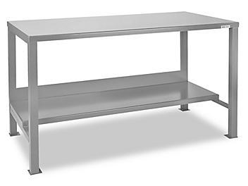 """Welded Steel Workbench - 60 x 30"""" H-3077"""
