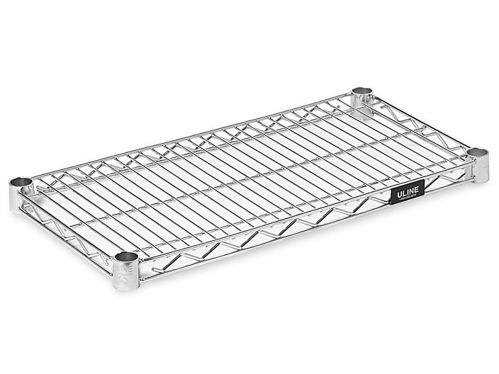 """Additional Chrome Wire Shelves - 24 x 12"""" H-3177C"""