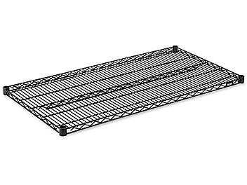 """Additional Black Wire Shelves - 48 x 24"""" H-3187BL"""