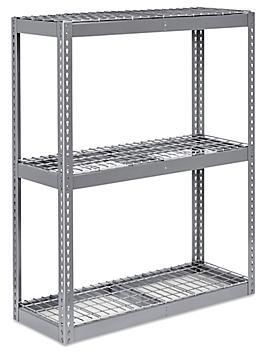 """Wide Span Storage Rack - Wire Decking, 48 x 18 x 60"""" H-3222"""