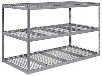 """Wide Span Storage Rack - Wire Decking, 96 x 48 x 60"""" H-3237"""