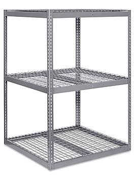 """Wide Span Storage Rack - Wire Decking, 48 x 48 x 72"""" H-3245"""