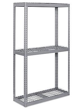 """Wide Span Storage Rack - Wire Decking, 48 x 18 x 84"""" H-3262"""