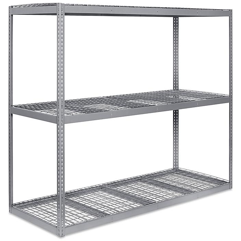 """Wide Span Storage Rack - Wire Decking, 96 x 36 x 84"""" H-3276"""
