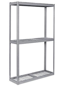 """Wide Span Storage Rack - Wire Decking, 60 x 18 x 96"""" H-3286"""
