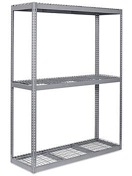 """Wide Span Storage Rack - Wire Decking, 72 x 24 x 96"""" H-3291"""