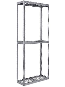 """Wide Span Storage Rack - Wire Decking, 48 x 18 x 120"""" H-3302"""
