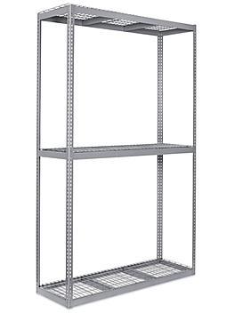 """Wide Span Storage Rack - Wire Decking, 72 x 24 x 120"""" H-3311"""