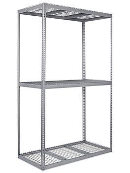 """Wide Span Storage Rack - Wire Decking, 72 x 36 x 120"""" H-3312"""