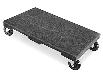 """Solid Top Carpeted Dolly - 30 x 18"""", 4"""" Casters H-3321"""
