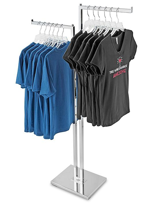 Straight Arm Clothes Rack - 2 Way H-3330