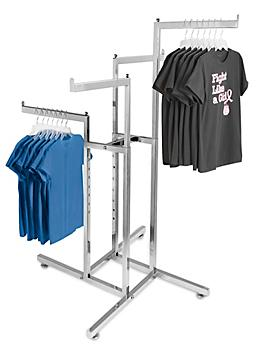 Straight Arm Clothes Rack - 4 Way H-3331