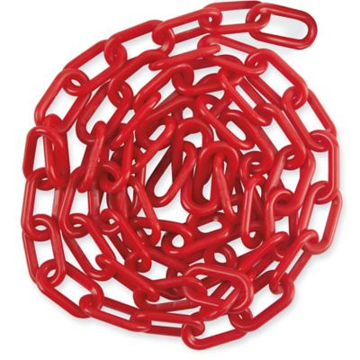 Plastic Barrier Chain - 8', Red