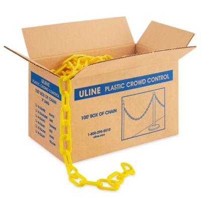 Plastic Barrier Chain - 100', Yellow