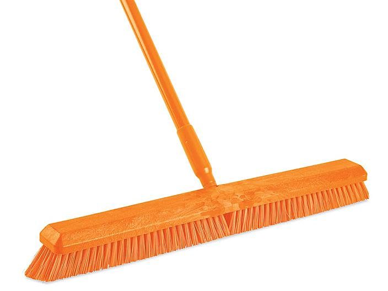 "Colored Push Broom - 24"", Orange H-3460O"