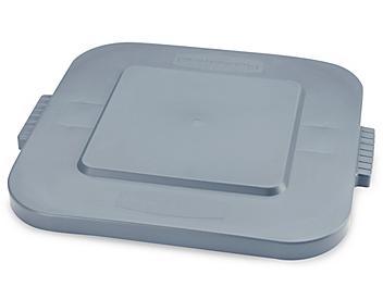 Rubbermaid® Square Brute® Trash Can Lid – 28 Gallon, Gray H-3494GR