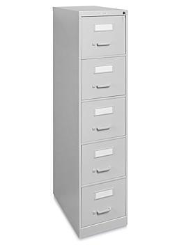 Vertical File Cabinet - Letter, 5 Drawer, Light Gray H-3705GR