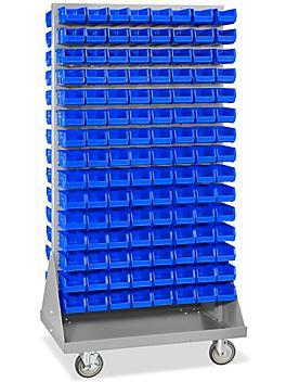 "Panel Mobile Stackable Bin Organizer - 7 1/2 x 4 x 3"" Blue Bins H-3889BLU"