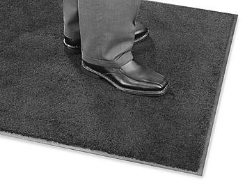 Plush Nylon Carpet Mat - 3 x 10', Black H-4511BL