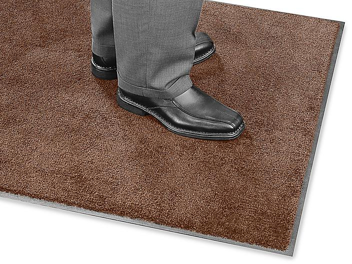 Plush Nylon Carpet Mat - 3 x 10', Brown H-4511BR