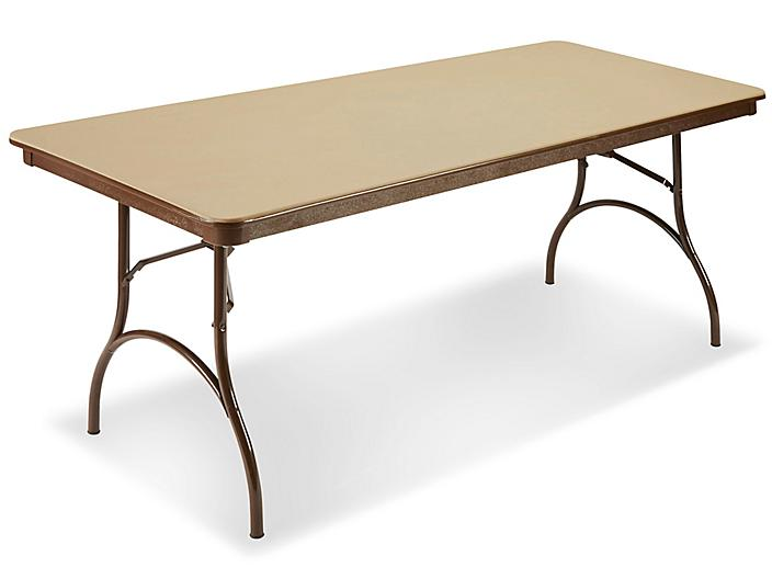 """ABS Plastic Folding Table - 72 x 30 x 29"""", Beige H-4516BE"""