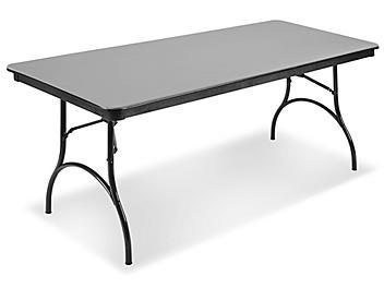 "ABS Plastic Folding Table - 72 x 30 x 29"", Gray H-4516GR"