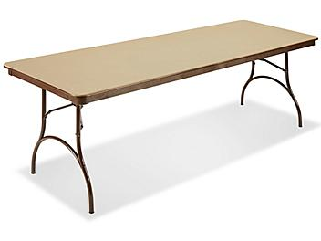 """ABS Plastic Folding Table - 96 x 30 x 29"""", Beige H-4517BE"""