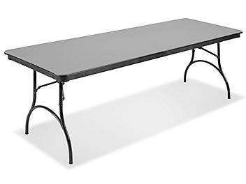 "ABS Plastic Folding Table - 96 x 30 x 29"", Gray H-4517GR"