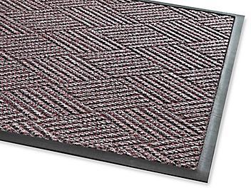 Waterhog™ Diamondcord Carpet Mat - 4 x 6', Gray/Red H-4520GR