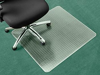 """Carpet Chair Mat - No Lip, 36 x 36"""", Clear H-4522"""