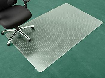 """Carpet Chair Mat - No Lip, 48 x 72"""", Clear H-4523"""