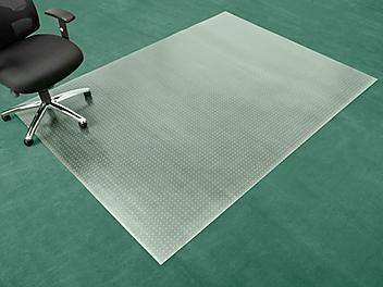 """Carpet Chair Mat - No Lip, 72 x 96"""", Clear H-4524"""