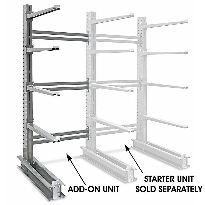 """Add-On Unit for Single-Sided Cantilever Rack, 54 x 61 x 120"""" H-4530-ADD"""