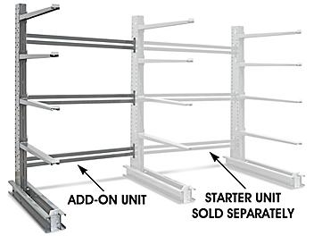 """Add-On Unit for Single-Sided Cantilever Rack, 78 x 61 x 120"""" H-4531-ADD"""