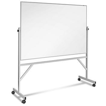 Magnetic Porcelain Mobile Dry Erase Board - 6 x 4' H-4576