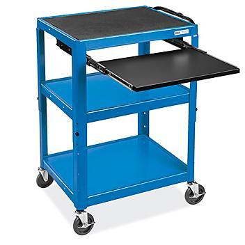 """Computer Cart - 26 x 20"""", Blue H-4607BLU"""
