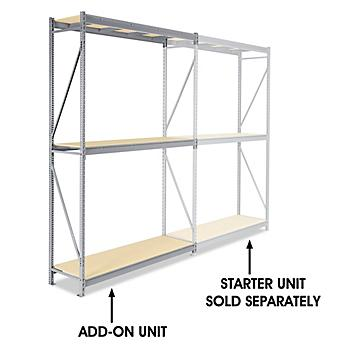 """Add-On Unit for Bulk Storage Rack - Particle Board, 72 x 24 x 120"""" H-4625"""