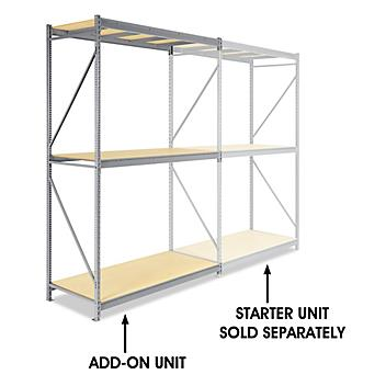 """Add-On Unit for Bulk Storage Rack - Particle Board, 72 x 36 x 120"""" H-4626"""