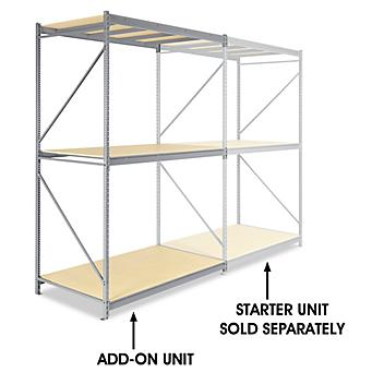 """Add-On Unit for Bulk Storage Rack - Particle Board, 72 x 48 x 120"""" H-4627"""
