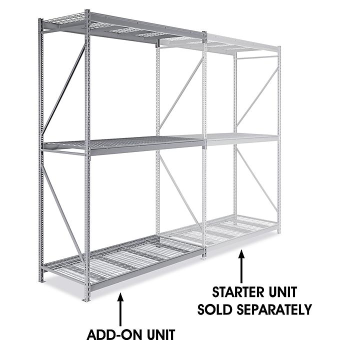 "Add-On Unit for Bulk Storage Rack - Wire Decking, 72 x 36 x 120"" H-4632"