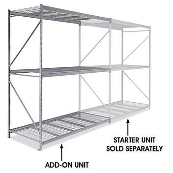 "Add-On Unit for Bulk Storage Rack - Wire Decking, 96 x 48 x 120"" H-4636"