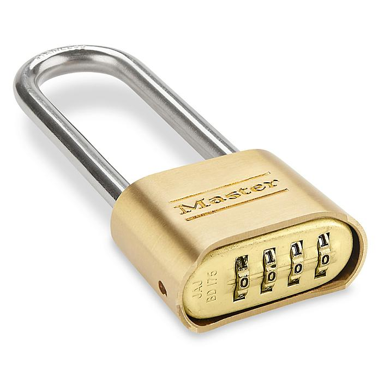 "Brass Padlock - Combination, 2 1/4"" Shackle H-4658"
