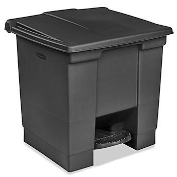 Rubbermaid® Step-On Trash Can - 8 Gallon, Black H-4753BL