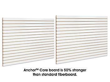 Slatwall Panels - 4 x 8', White Melamine H-4774W