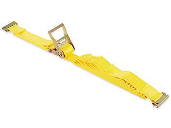 "LiftAll® Ratchet Tie Downs - E-Track, 2"" x 27', 3,000 lb Capacity H-4781"